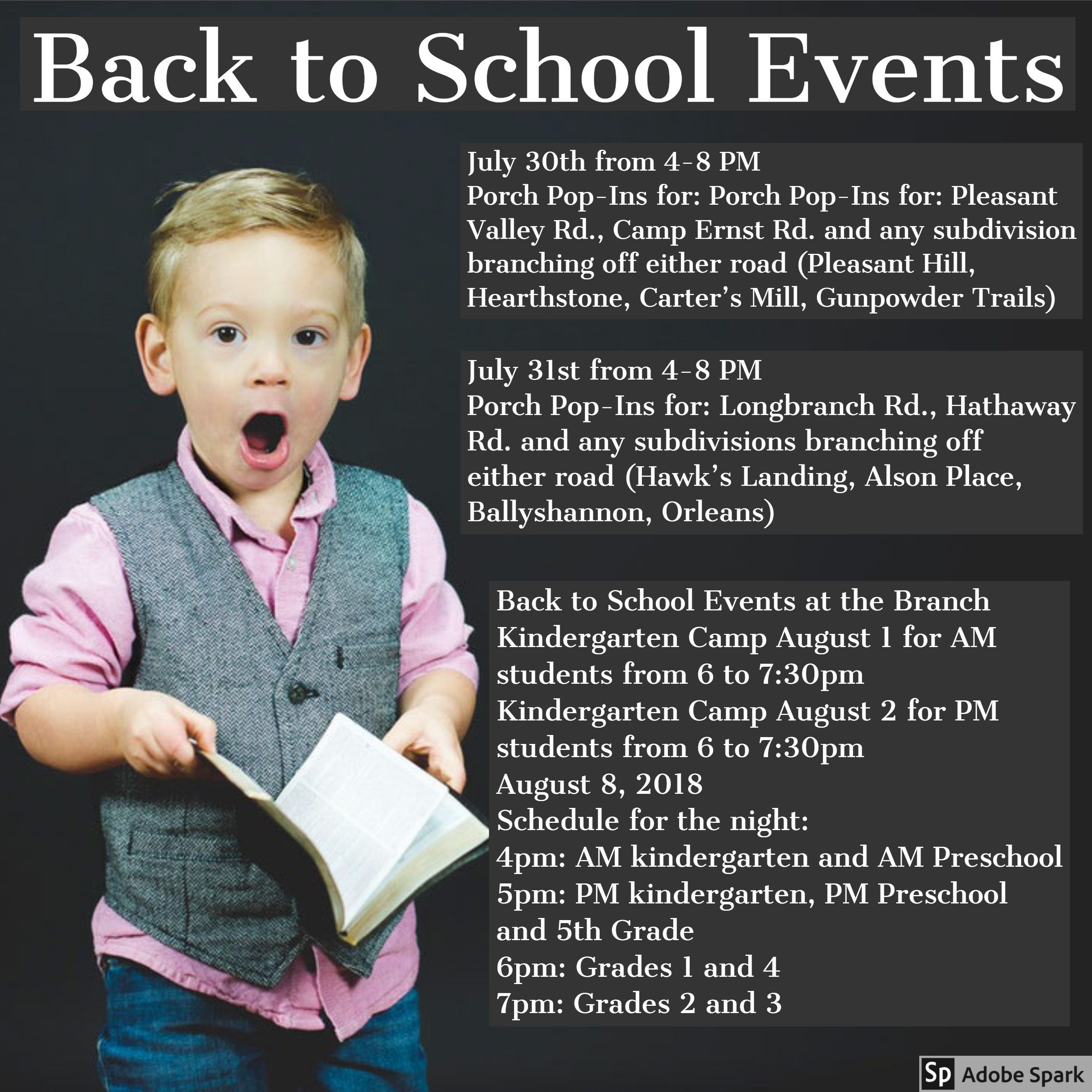 Back To School at the Branch