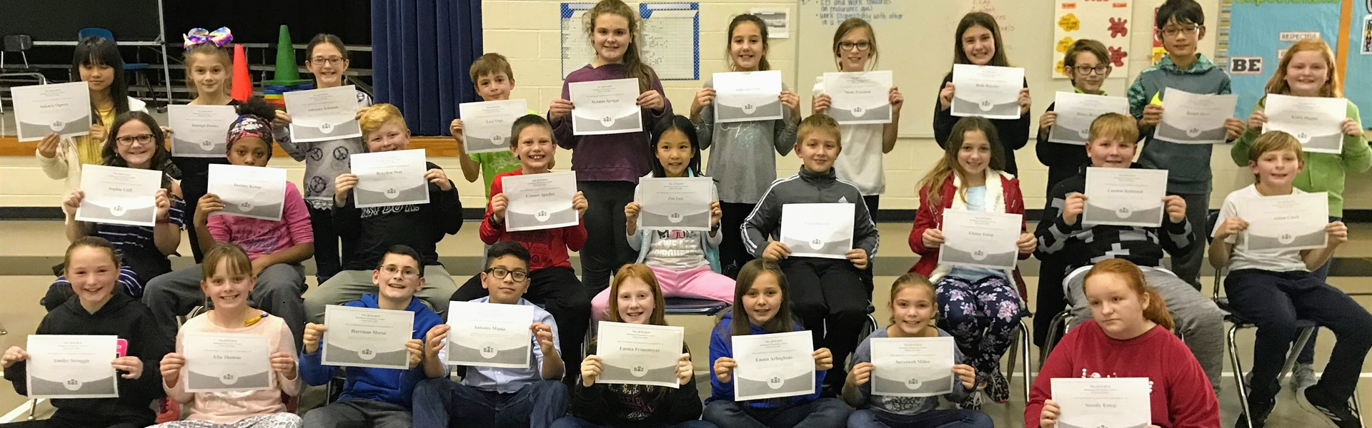 2018 Spelling Bee Participants