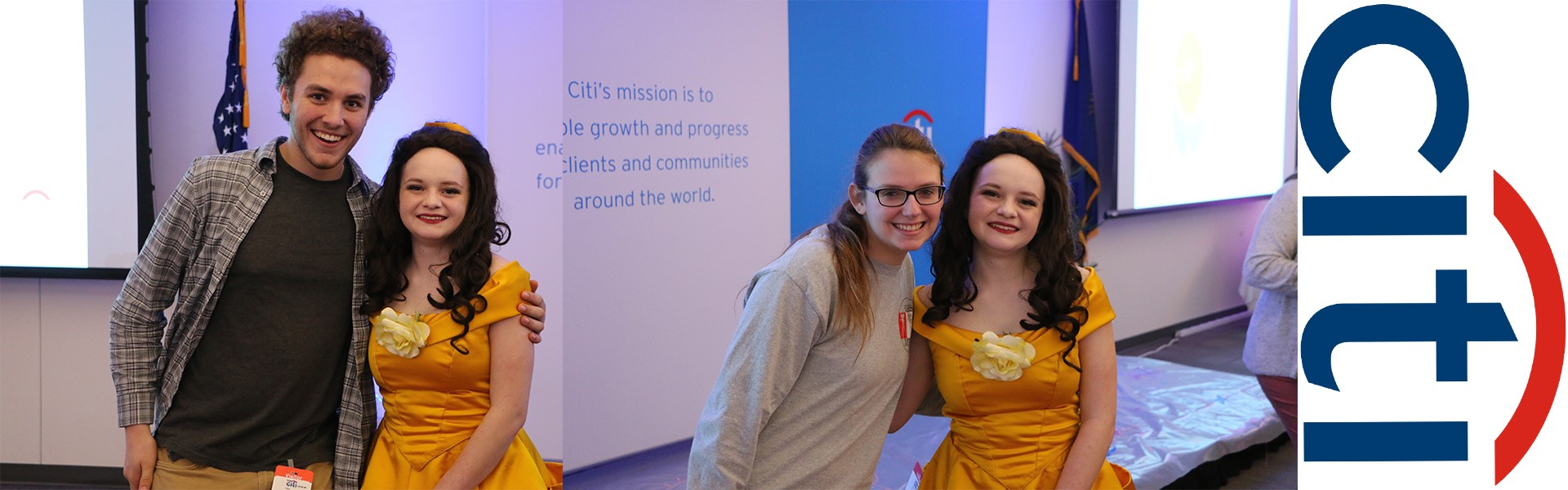 Students Help at Citi and Meet Belle