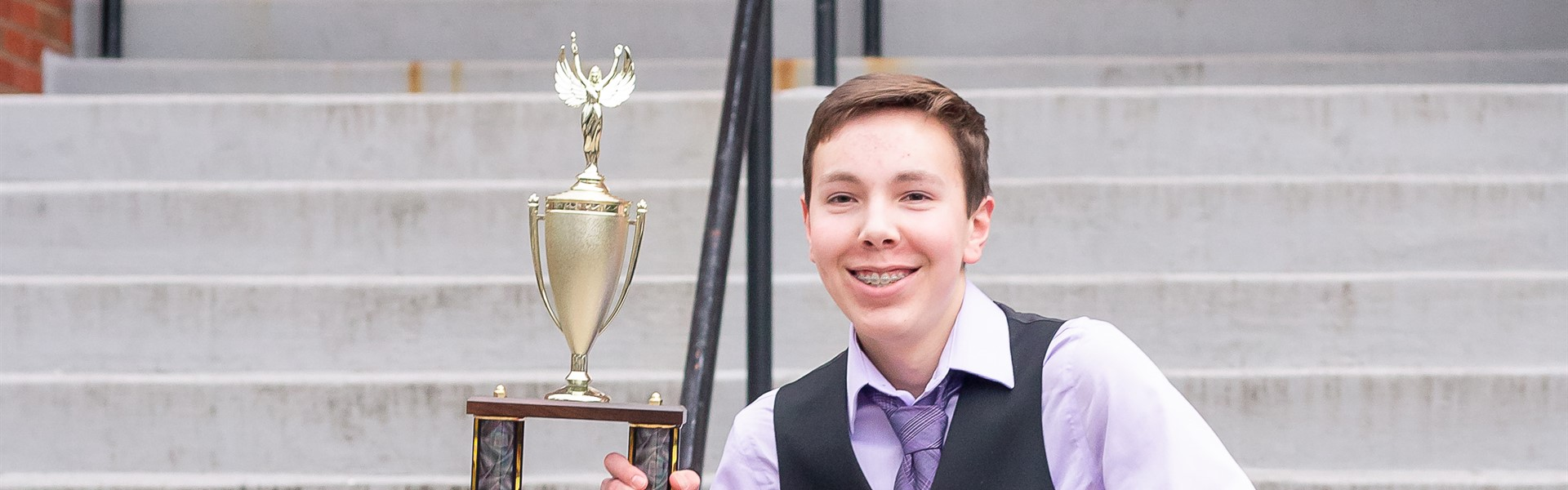 Brady Hall State Speech Champion in Prose