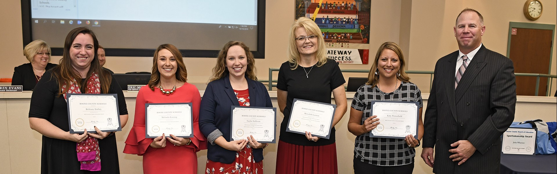 Teacher of the Year nominees 10/19