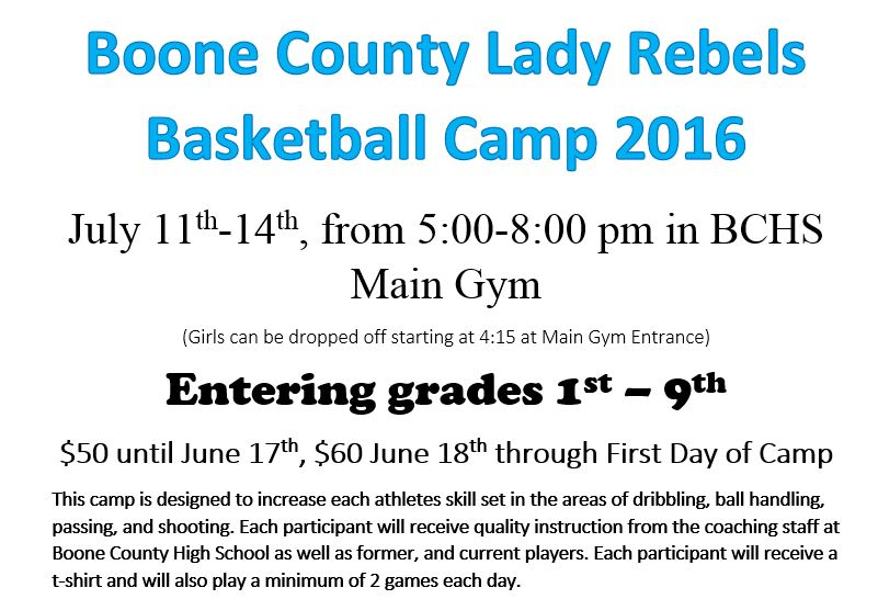 Boone county lady rebel basketball camp goodridge elementary school click here to download a registration form altavistaventures Gallery