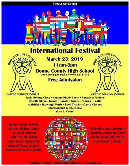 international festival flyer