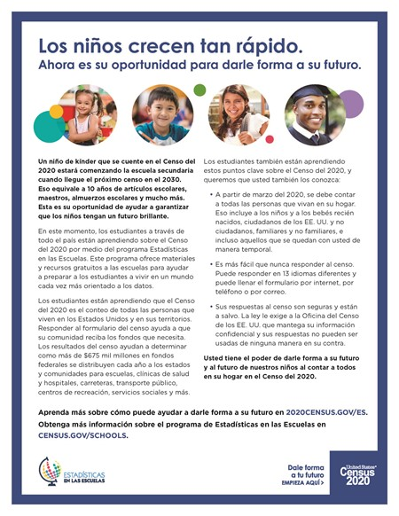census flyer spanish