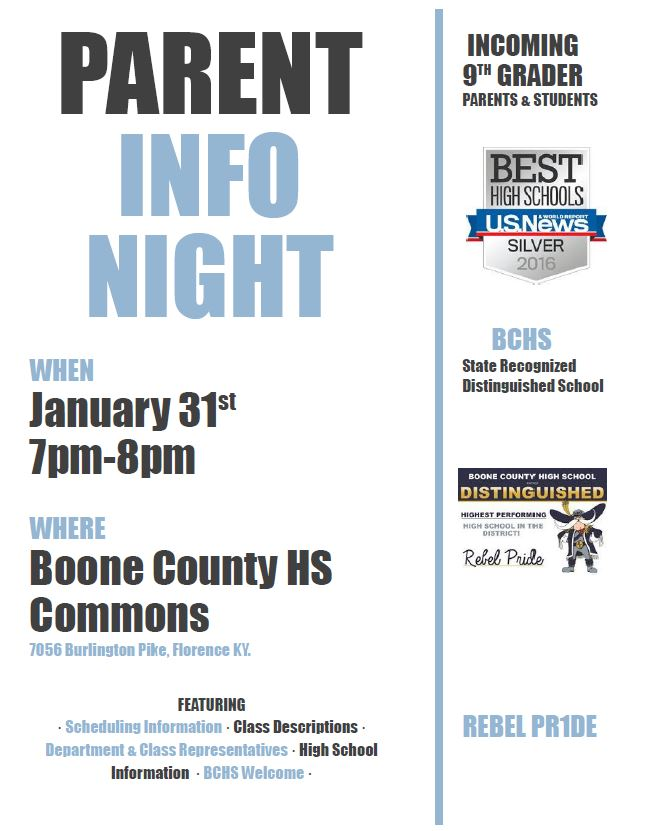 Parent Night Info