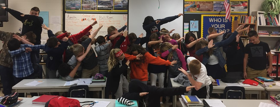 Mrs. Nixon's Class Showing Us How to Dab!