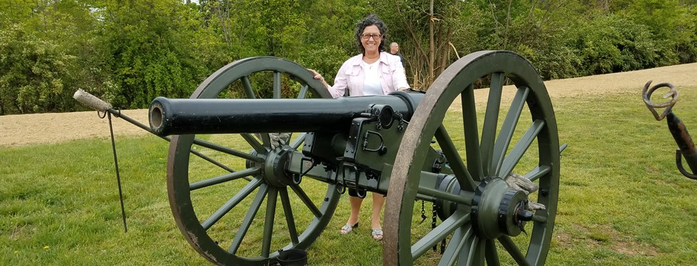 Mrs. Drance with cannon.
