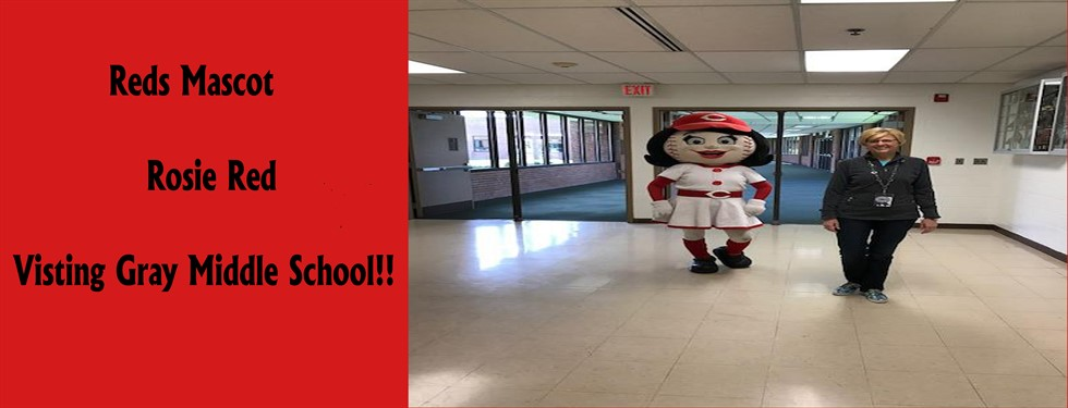 Rosie Red Visiting Gray Middle School