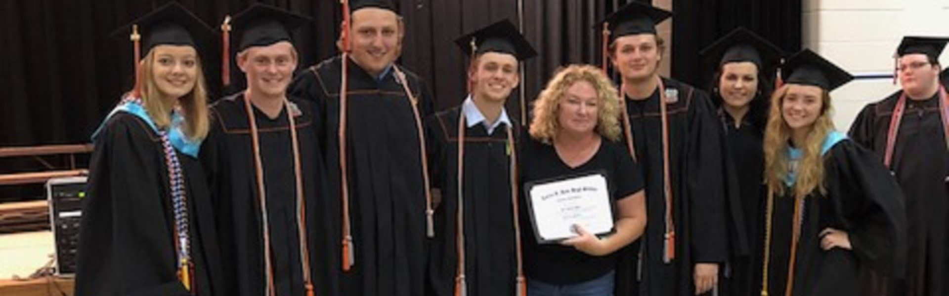 Mrs. Haley w/ her Ryle honorary diploma students